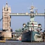 HMS Belfast y la Torre sobre el Puente - Londres