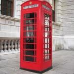 Famosa cabina roja de télefono de Londres