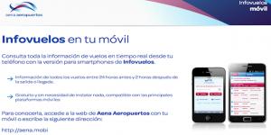 Versión móvil de Infovuelos de Aena