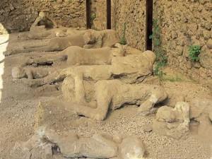 cuerpos fosilizados en Pompeya